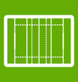 rugby field icon green vector image