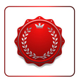 Seal award red icon Blank medal vector image