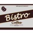 vintage template design for coffee bar vector image