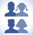 Web friends icon vector image