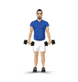 training dumbbell vector image
