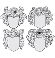 set of aristocratic emblems No5 vector image vector image