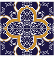 Blue and Yellow Tile vector image