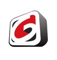 3D letter G business logo vector image