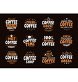 Coffee logo labels and icons Collection vector image