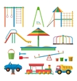 Kids playground with isolated vector image