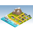 sea line isometric composition vector image