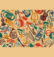 seamless musical background vector image