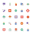 Security Colored Icons 2 vector image