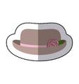sticker lace hat roses cloche retro design vector image