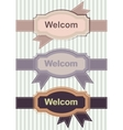 Welcom Retro Banners vector image