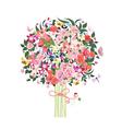 flower tree vector image vector image