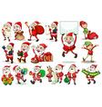 Santa actions vector image