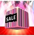 3d big sale cube vector image