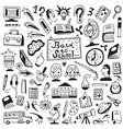 school education - doodles set vector image vector image