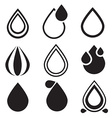Water Drop Icons Set - vector image vector image