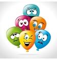 Cartoon emoticon graphic vector image