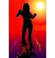 Girl in water vector image