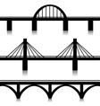 Bridges set vector image