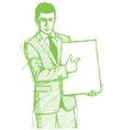 businessman write board vector image