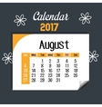 calendar august 2017 template icon vector image