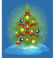 Christmas tree and a snowfall EPS10 vector image