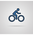 Cycling graphic symbol with shadow vector image