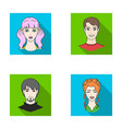 different looks of young peopleavatar and face vector image