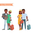 people and family traveling on vacation vector image