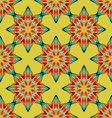 seamless mandala ornament flower pattern vector image