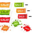 set sale paper vector image