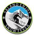 Ski and Enjoy vector image