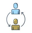 teamwork men cooperation solution arrows vector image
