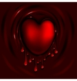 Heart and Blood vector image
