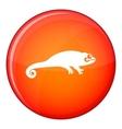 Chameleon icon flat style vector image