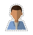 young man with jacket portrait modern cutting line vector image