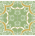 Green and Yellow Tile vector image
