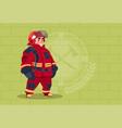 fireman wearing uniform and helmet adult fire vector image