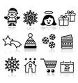 Christmas Xmas celebrate icons set vector image vector image