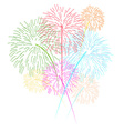 Fireworks on white background vector image vector image