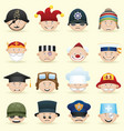 people occupations icon set vector image