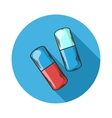 Capsules icon vector image