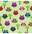 owl background tree vector image