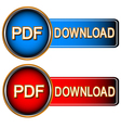 Pdf download icons vector image vector image