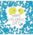 Card with flowers elefants and handlettering text vector image