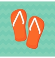 bright summe sneakers vector image