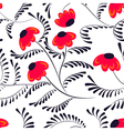 Beauty contrast simple seamless floral pattern vector image