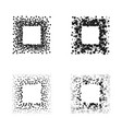 black color square frames isolated on white vector image