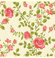 blooming roses seamless pattern vector image