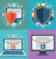 Data protection and safe work Flat design vector image
